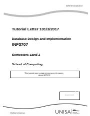 Tutorial letter_INF3707