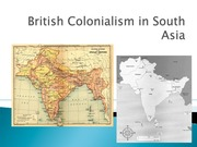 South Asia-British Colonialism