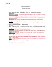 Chapter 10 Questions Anatomy Physiology.docx