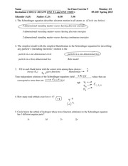 Solutions In Class Exercise 9 09-105 S 15