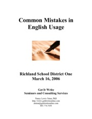 COMMON ENGLISH IN MISTAKES