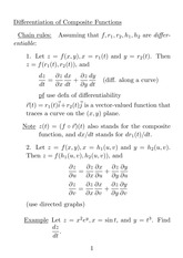 Multi-variable functions - partial derivatives 3