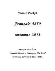 Course Packet for Composition Writing-1