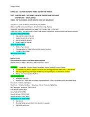 Lecture Outline - Weeks Eleven and Twelve - Spring 2013
