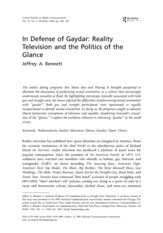 Bennett.2006.In Defense of Gaydar