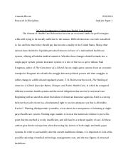 Healthcare Reform Analysis Paper