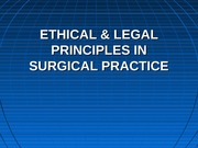 ethical and legal surgery