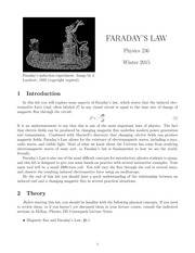 Faraday's Law Lab