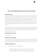 GIS FOR MONITORING AND EVALUATION COURSE.docx