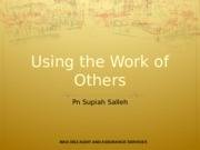 Topic 7 - Using Work Of Others
