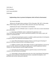 First Committee Resolution
