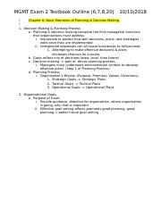 MGMT 309 Exam 2 Textbook Outline.docx