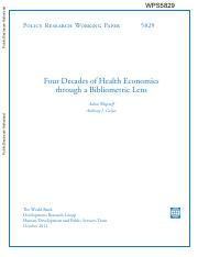Wagstaff-Culyer - Four Decades of Health Economics.pdf