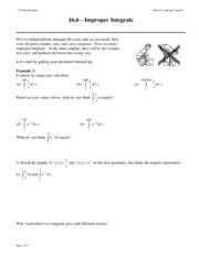 NOTES 06.6 Improper Integrals