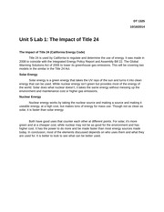 Unit 5 Lab 1 The Impact of Title 24