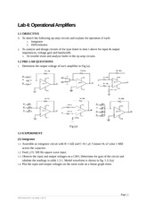 ME591_HOMEWORK_2012_5__1_1_Sheet 4 on Operational Amplifiers