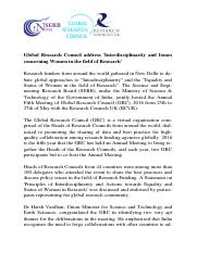 Update on Global Research Council Annual Meeting during 25-27 May 2016 (6) - Copy