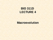 Lecture 4 Macroevolution posted