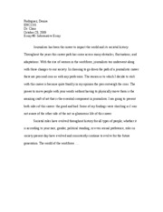 informative essay rough draft