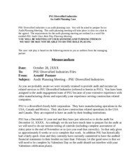 case1  Question - PSU Diversified Industries - updated Jan 2012