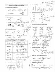 8. Questions Involving the Laws of Logarithms - Solutions