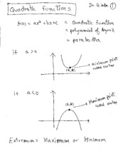 3 Quadractic Functions Summary
