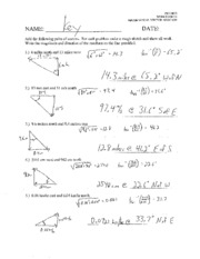 Worksheets Physics Worksheets physics vector worksheet intrepidpath math b solutions