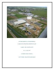 The Caroni Water Treatment Plant