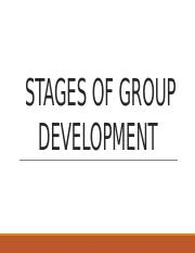 Stages of Group Development Report