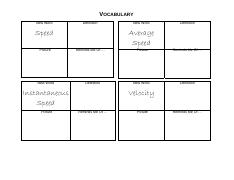 speed graphic organizer