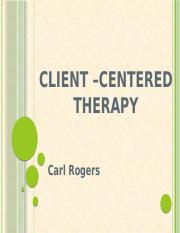 CLIENT _CENTERED THERAPY
