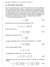 [g] Hugoniot Equation (supplementary reading)