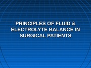 fluid-electro in surgery