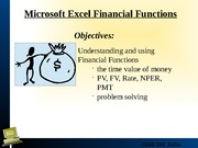 Lecture 9 Financial Functions