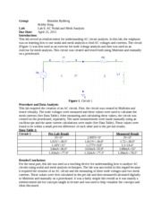 Lab Report 8- AC Nodal and Mesh Analysis
