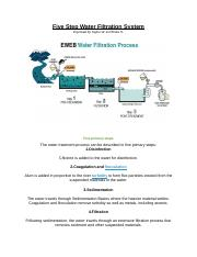 Five Step Water Filtration System.docx