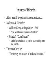 Reactions to Ricardo.ppt