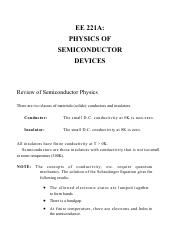 221A_1_Review of Semiconductor Physics