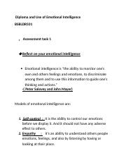 Diploma and Use of Emotional Intelligence