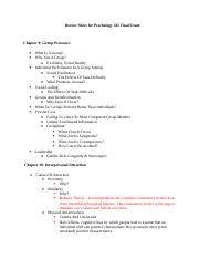 Review Sheet for Psychology 345 Final Exam.doc
