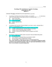 psy 101 midterm solved papers 2011