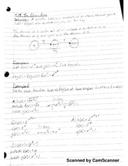 MATH 206 The Chain Rule Notes