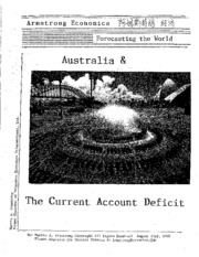 Australia & The Current Account Deficit 8-23-2010