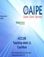 TW11 Cashflow Accounting ACT100 Slides
