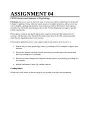 PS320A Assignment 4