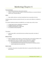 Marketing Chapter 4