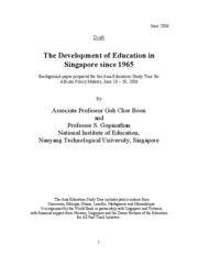 Singapore education policy