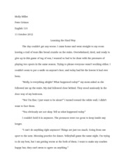 English 110 pg. 129 #2 essay