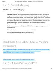 Lab 5_ Coastal Mapping_ GIS 4035C-001, GIS5038C 001_ Remote Sensing of Environment.pdf
