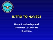 Lesson 16 Basic Leadership and Personal Leadership Qualities